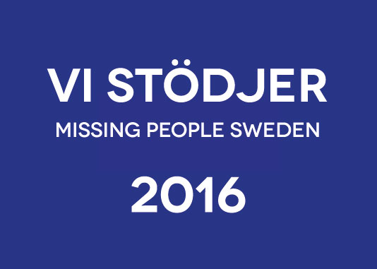 Vi stödjer Missing People Sweden 2016