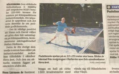 Inomhushall för paddeltennis i Sölvesborg
